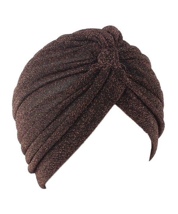 KINGREE Chemo Cap-Turban Headwear-Multi Function Headwrap and Chemo Hats For Hairloss - Coffee - CS1889CTCDT