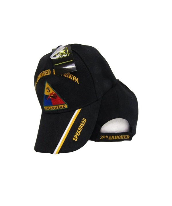 U.S. Army 3rd Armored Division Spearhead Black Shadow Embroidered Cap Hat - C61853ID23H