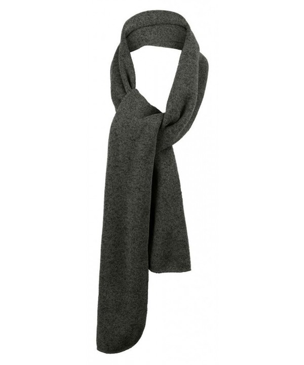 Port Authority Heathered Knit Scarf - Black Heather/Charcoal - CI110M5MVTX