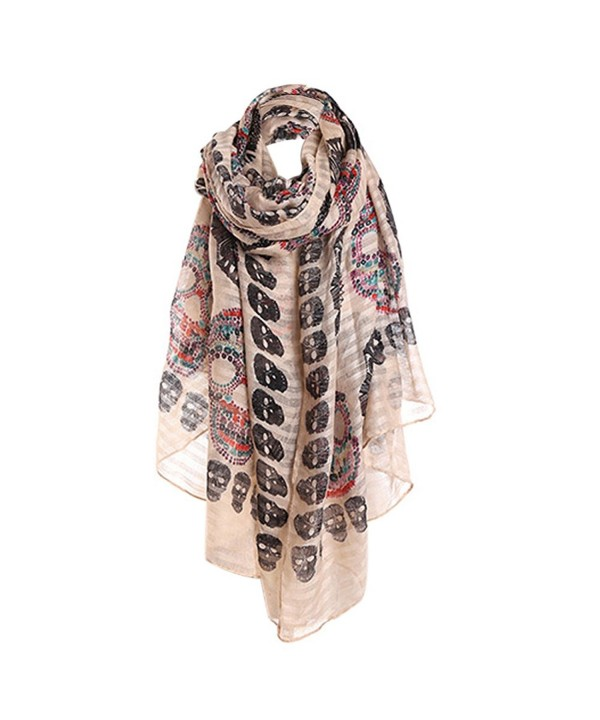 CHUANGLI Scarf All-match Shawl Sunscreen Ladies Print Scarf Girls Long Thin Robe - Brown - CK17Y4Y7XZ3
