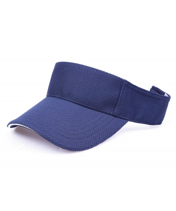 RufNTop Mesh Visor Sport Headband Athletic Sportswear Runing & Outdoor Activities for Unisex Cap - Navy - CT18585KQQI