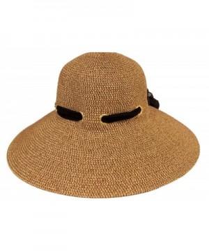 Ladies Brown Hat Through Eyelets