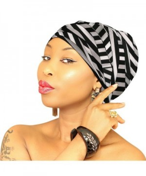 Jersey Hijab Navy Head Wrap Head Scarf Chic Collection Light Weight African Head Wrap - Black-line - CZ189O0TYQR