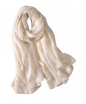 Bbonlinedress Women's Lightweight Rayon Shawl Long Soft Scarf Bridal Party Wrap - Beige - CS183C0LIYN