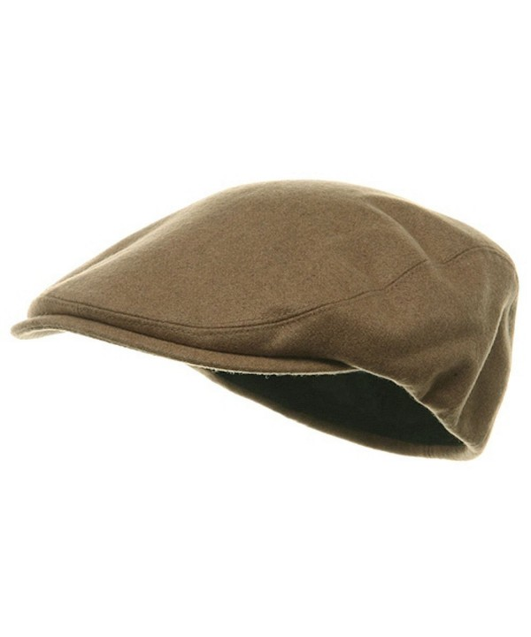 MG Men's Wool Ivy Newsboy Cap Hat - Camel - C611OHTQNIP