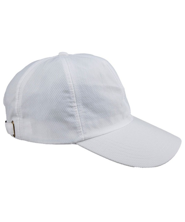 Samtree Unisex Sport Sun Hat-Ultra Thin Quick Dry Lightweight Running Hat Baseball Cap - B-white - CA12GY6PNH5