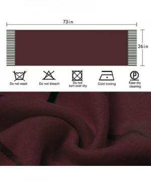Lattice Unisex Blanket Scarf Tassels