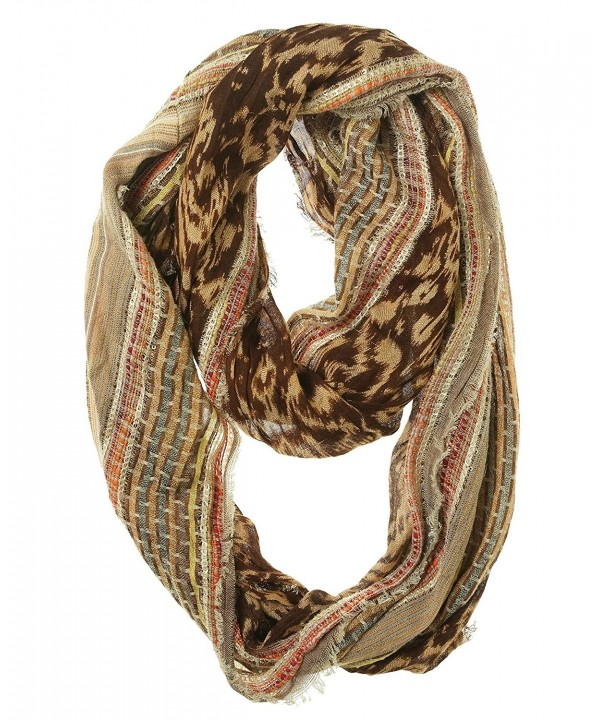 Collection Eighteen Women's Sequin Multi Pattern Infinity Scarf (OS- Rose Dust) - C711QXHDCY7
