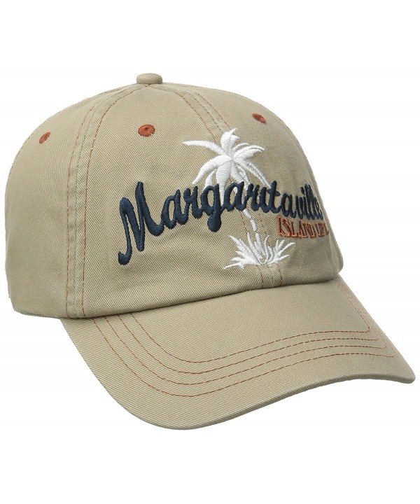 Margaritaville Men's Mv Palm Tree Hat - Khaki - CA12B8JVF9D