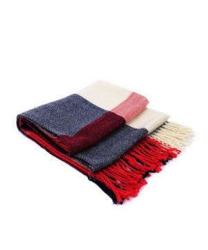 HUAN XUN Blanket Scarf Shawl Cape Poncho Knit Sweater with Tassels Multi Styles - Shawl & Plaid - Red & Black - CO11O3J6LKJ