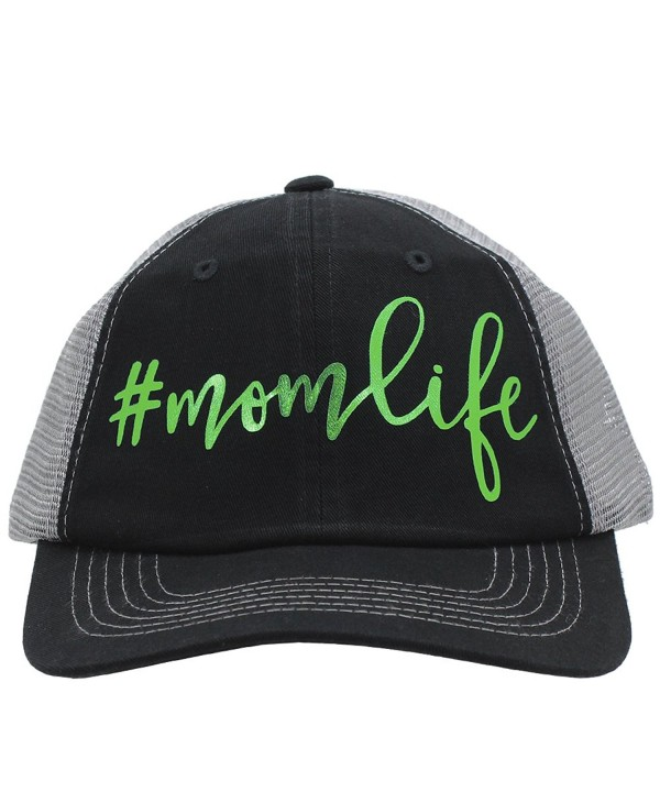 Glitter Foil Green momlife MomLife Mom Life Trucker Style baseball Cap Hat Rocks any Outfit - CP17YXH7SO5
