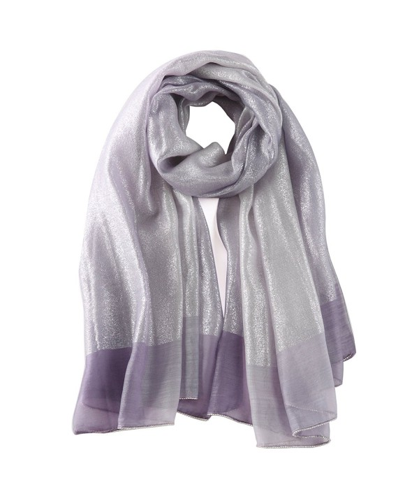 STORY OF SHANGHAI Women's Gradient Scarf Large Silk and Wool Shawls with Silver - Km04 - CI184DAKRAL