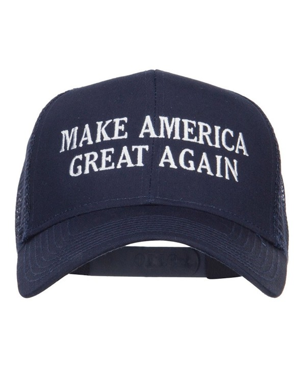 Make America Great Again Embroidered Mesh Cap - Navy - CQ12ENS0W13