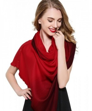Silk Scarf Fashinable Blanket Buttons - Red - CM185RMI7HY