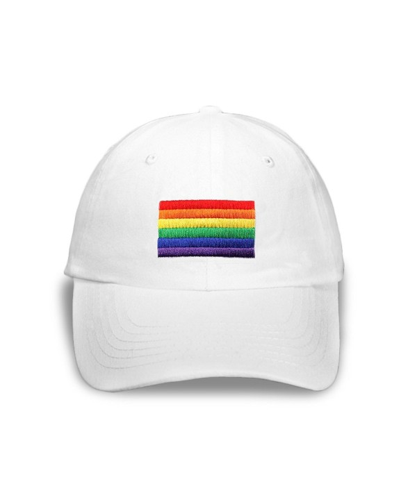 Rectangle Rainbow Hat In White in a Bag (1 Hat - Retail) - C511C4ZU3HL