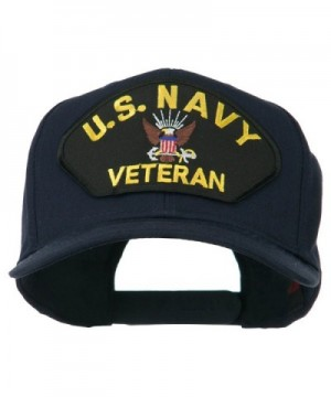 US Navy Veteran Military Patched High Profile Cap - Navy - CS11M6KDFPV