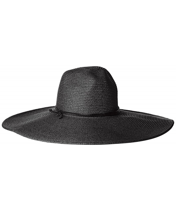 San Diego Hat Company Women's Floppy Sun Hat With Pinched Crown and Twisted Band - Black - C1126AOQ8AF
