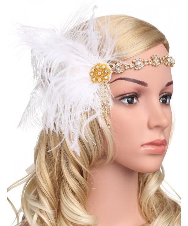 BABEYOND Vintage Headband Headpiece Accessories - White - CP182WE3RT8