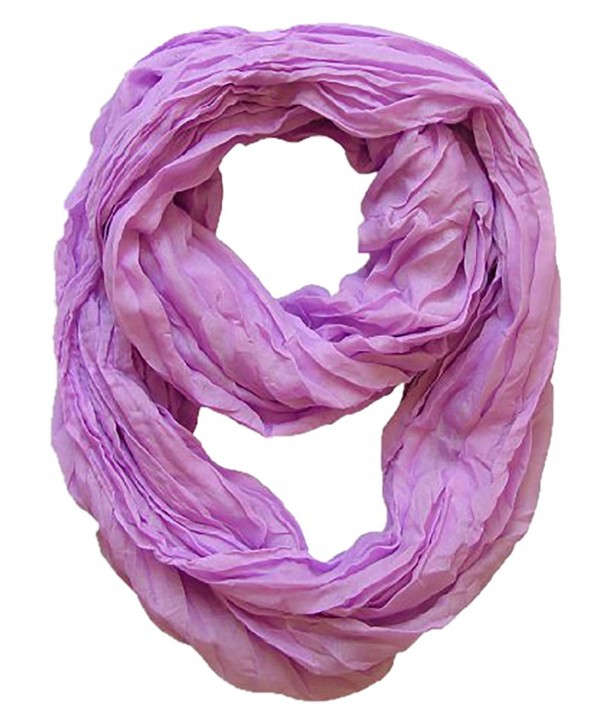 Peach Couture Fashion Lightweight Crinkled Infinity Loop Scarf Neon Faded Ombre - Lavender - CZ11KBJCFHX