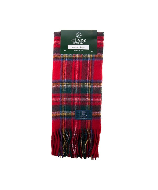 Clans Of Scotland Pure New Wool Scottish Tartan Scarf Stewart Royal (One Size) - C712581TIYV