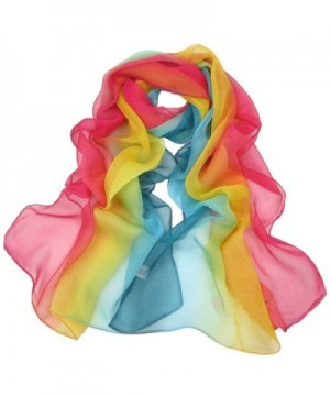 Aven Women Charming Georgette Rainbow in Fashion Scarves
