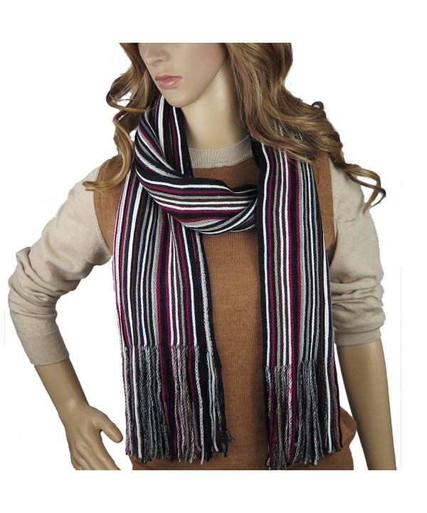 Debra Weitzner Knitted Winter Scarf- Mens Womens- Colorful Knit Striped Scarf - Striped 06 - CU185QDWR4W