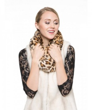 Adelaqueen Womens Fabulous Leopard Infinity in Cold Weather Scarves & Wraps