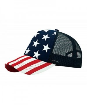 WP 5 Panel Foam Trucker USA Flag Stars and Stripes Cap - CF11VTT4SGF