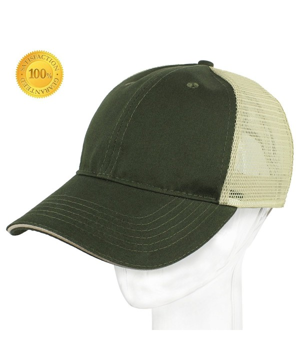 YEYIMEI Profile Baseball Unisex Adjustable - Green + Light Yellow Grid - CE184KDQMQK