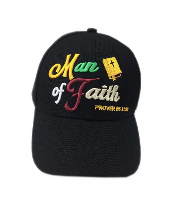 Aesthetinc Christian Bible Verse Print Man of Faith Jesus Christ Cap Hat - New Man of Faith Bk - CS17WYTX2YM