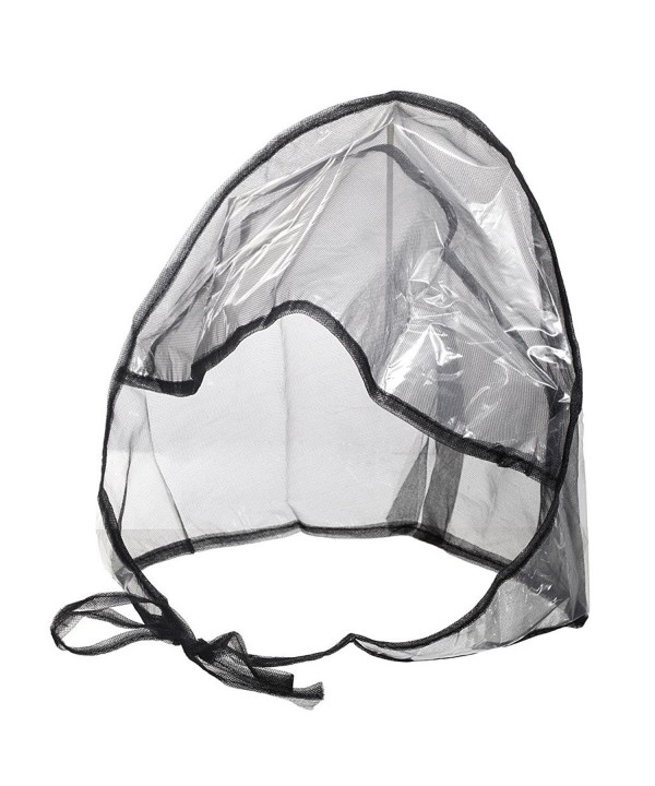 La Mart Rain Bonnet With Full Cut Visor & Netting - Available in Black or White - Black - C0119ZJA4T5