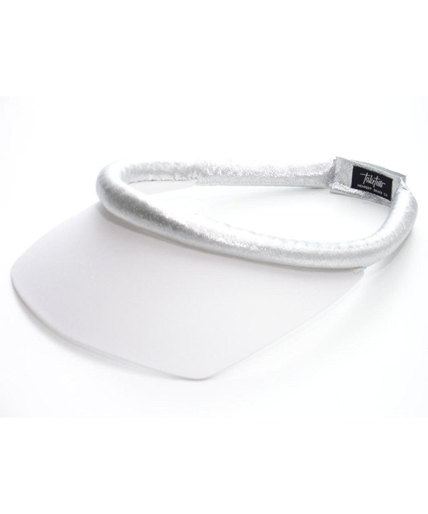 Take Two Women's Square Brim Visor w/Velcro Closure - White/Silver - CY11I34AR95