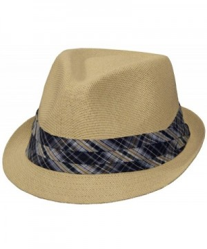 Classic Summertime Fedora for Men and Women (Natural Color) - C911D8DTRG1