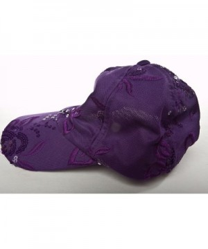 Florida Hat Company Purple Floral in Women's Baseball Caps