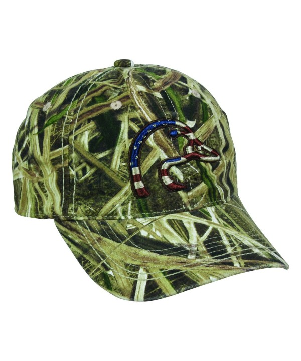 Ducks Unlimited American Flag Duck Head Flag Mossy Oak Shadow Grass Cap Hat 120- One Size Fits Most - CJ17Z6WKRE9