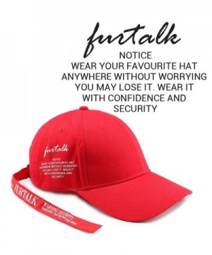 FURTALK Embroidery Caution Baseball Adjustable