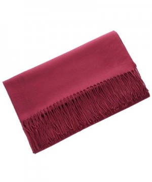 MorySong Cashmere Tassel Winter Burgundy in Fashion Scarves