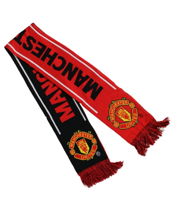 Manchester United Woven Winter Scarf (Black/Red/White) - CP11P6LXODZ