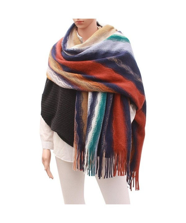 Women Cashmere Winter Blanket Scarf - 2 - CO186REGRE4