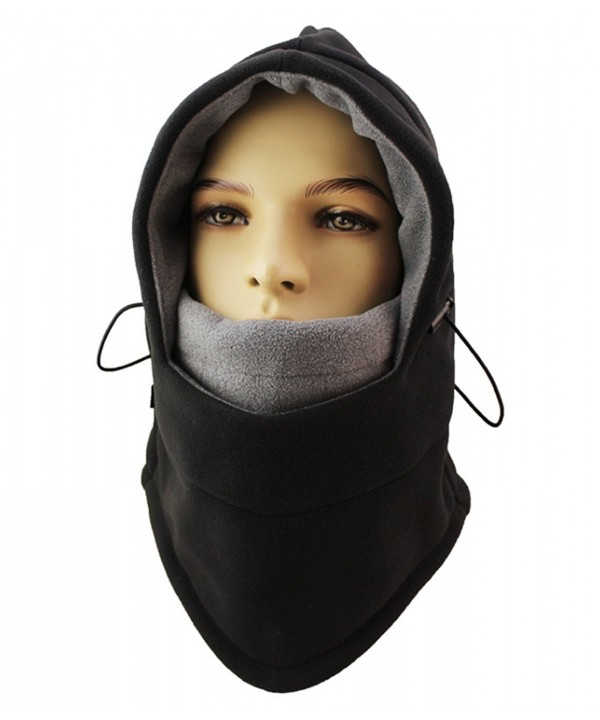 ZZLAY Balaclavas Hat Double Layers Thicken Caps Winter Warm Fleece Ski Face Mask - black - CW185T3Y2NR