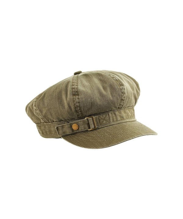 MG Unisex Pigment Dyed Special Cotton Washed Newsboy Cap-2126 - Olive - CF1278KHP81