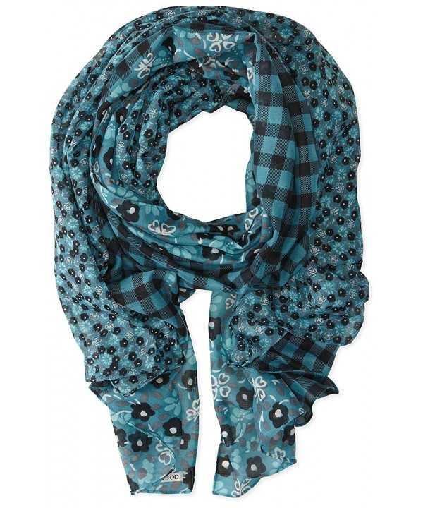 "Life is good Women's Summer Floral Scarf - ""		 	 Dusty Blue	 	"" - CN11MYMRF9N"