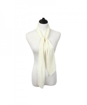 IvyFlair Womens Pleated Skinny Scarf