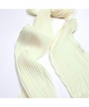 IvyFlair Womens Pleated Skinny Scarf in Fashion Scarves