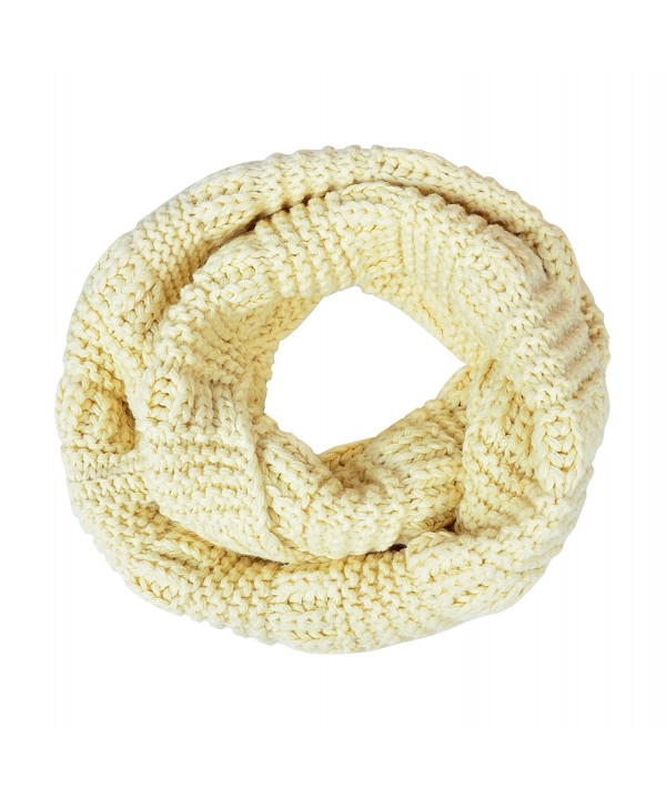 MATCH MUCH Infinity Scarf Chuncky Knitted Scarf Warm Thick Circle Loop - Cream-style 2 - CM12N782SOT