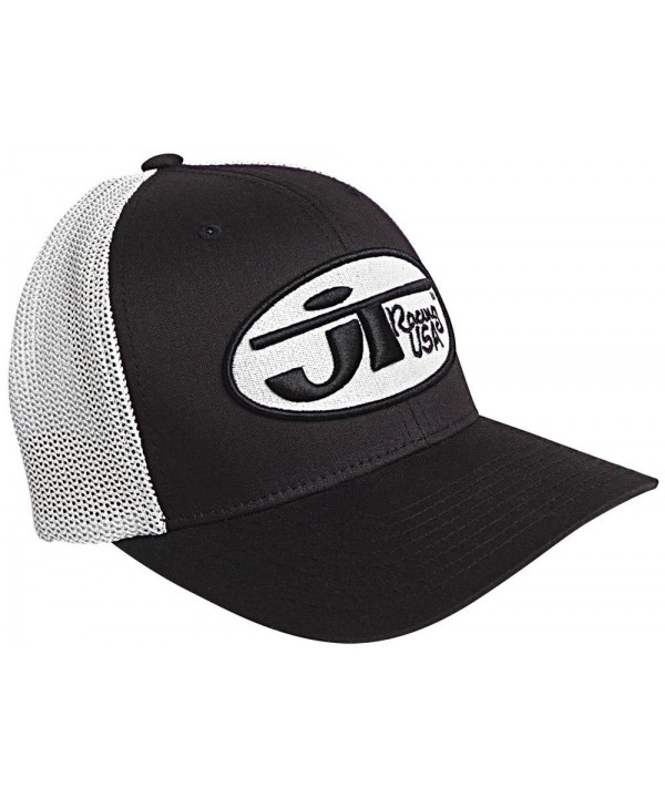 JT Racing USA Hat with Oval Logo (Black/White- Large/X-Large) - Black/White - CK1176EIMI7