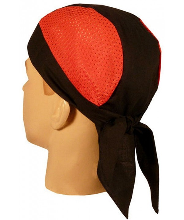 Skull Cap Biker Caps Headwraps Doo Rags - Red/Black Air Flow - C512ELHP27F
