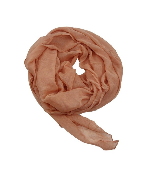Fasoar Luxurious Lightweight Fashionable Pashmina - Light Orange Pink - C117YOX8L8I