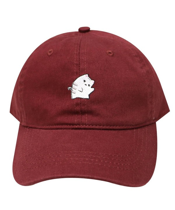 City Hunter C104 Cute Cat Cotton Baseball Dad Cap 25 Colors - Burgundy - C2183OE386E