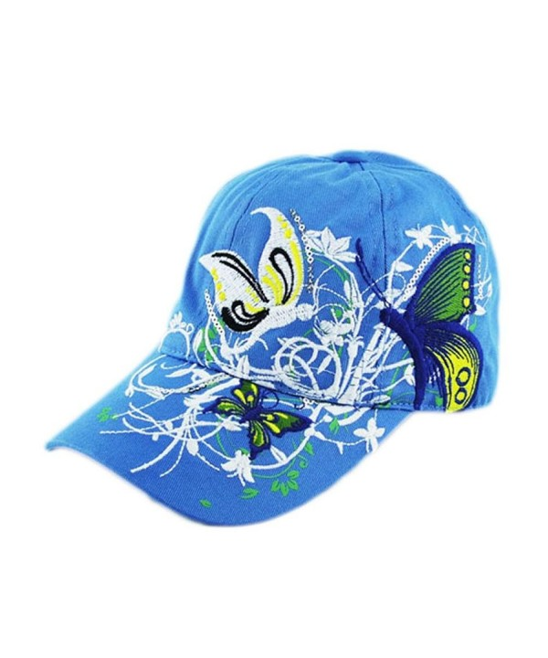 Caps- Toraway 2016 Fashion Women's Embroidered Duck Tongue Hat Baseball Cap - Blue - C712DZ2XIT1